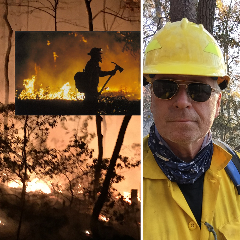 Gary fighting fires