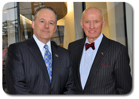 (L to R) Dr. Warnick  with Dr. Tew