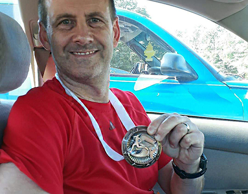 Don with medal