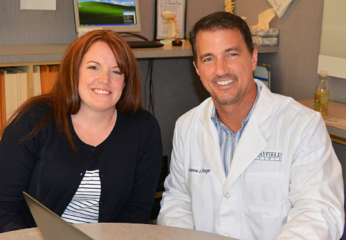 Photo of Lysa with Dr. Ringer