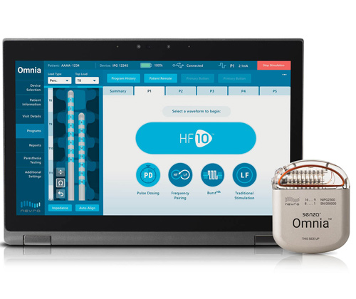 Mayfield among First in U S  to Offer Senza® Omnia™ Spinal